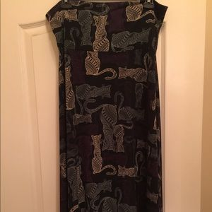 LuLaRoe Cat Print Maxi Skirt